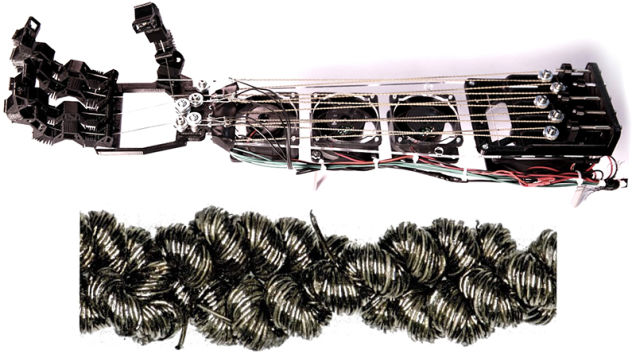 Here's Regular Sewing Thread Woven into Strong Artificial Muscles…