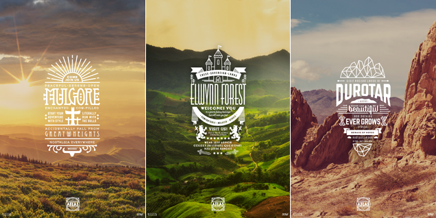 Here's World of Warcraft Starting Zones designed as Travel Ads