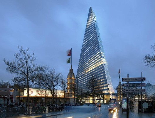 "Herzog & de Meuron's ""Triangle Tower"" Receives Approval from Paris"