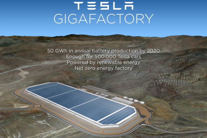 Tesla readying its 'Gigafactory' by tripling its land in Nevada