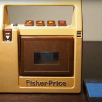 Some Wonderful Soul converted a Fisher-Price Cassette Player into a Bluetooth Speaker!