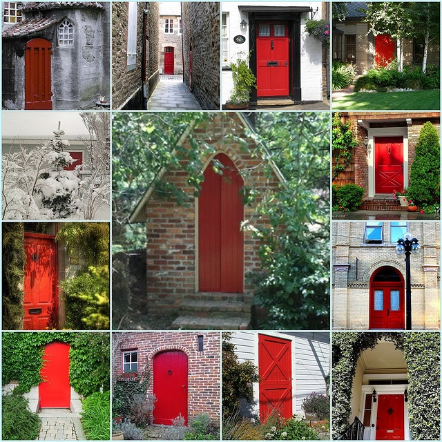 Some History Behind Why Some Front Doors are Red…