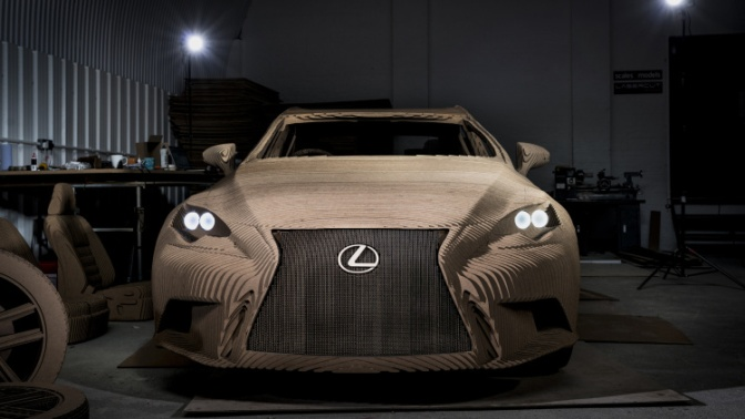 Yeah, Sooo, Lexus made a Working Electric Car out of Cardboard…
