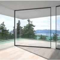 Who Wants These Glass Walls That Slide Around Corners to Disappear From View? ME!!!