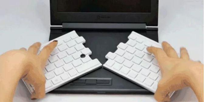 Here's a 12″ Keyboard inside an 8″ Laptop. YAY MATH!