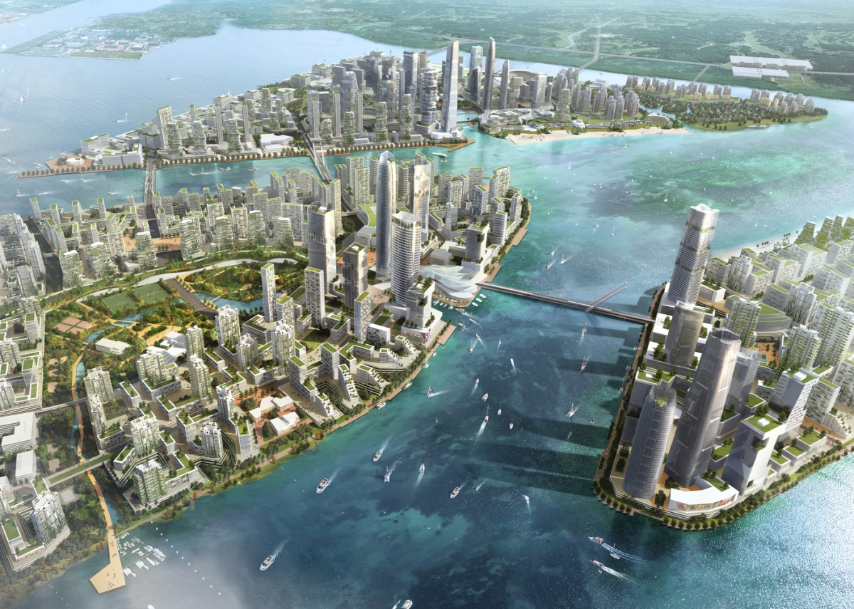 "The Master Plan for Sasaki's ""Forest City"" in Iskandar Malaysia Stretches Across FOUR Islands!"