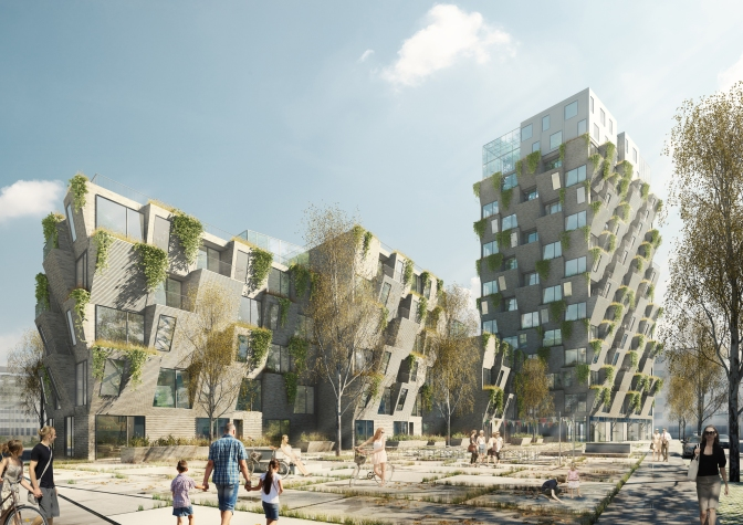 Studio LOKAL's Hanging Gardens Tower Wins Copenhagen Residential Competition