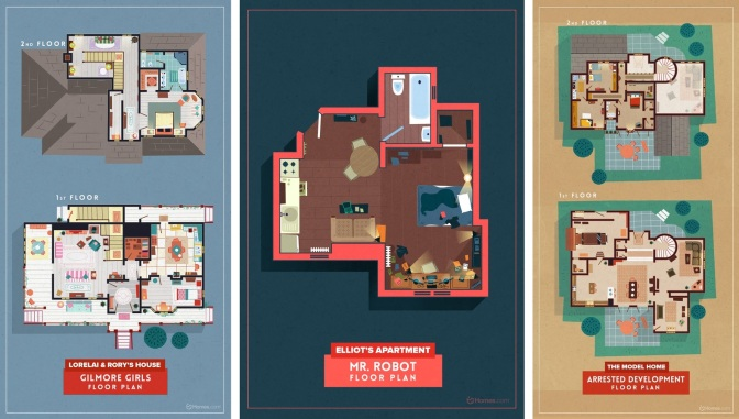 Five Floor Plans from Some of my Favorite Cult TV Shows