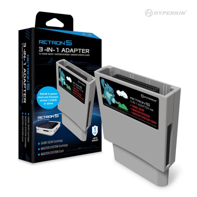 Hyperkin's Game Gear/Master System/Master System Card Adapter for the Retron 5 to be released February 28th!