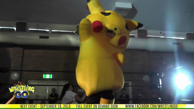 Who Wants to See A Pro Wrestler Dressed as Pikachu do a Perfect Moonsault? (It Should be EVERYONE…)