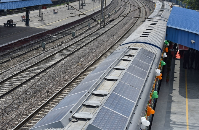 India Debuts its First Solar-Powered Train…