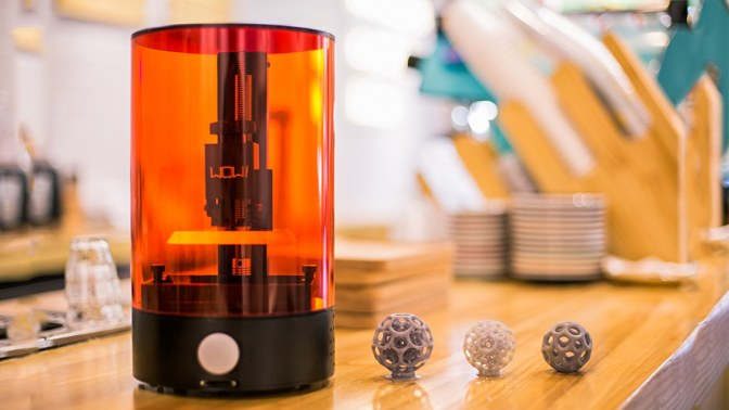 This is The SparkMaker, a Very Affordable Desktop SLA 3D Printer…
