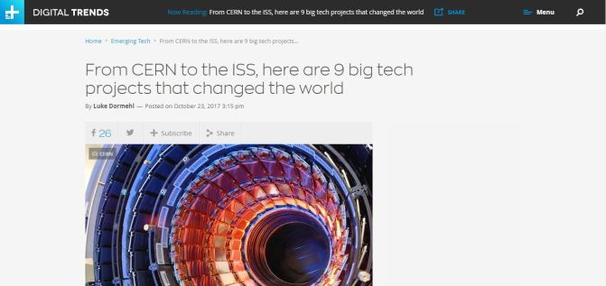 Digital Trend's List of the Nine Tech Projects That Changed The World!