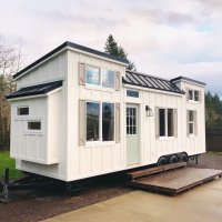 The Coastal Craftsman Tiny Home Goes ALL IN on Interior Design...