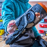 Some Hackers Built a Prosthetic Nerf Blaster That Fires by Flexing Your Arms!
