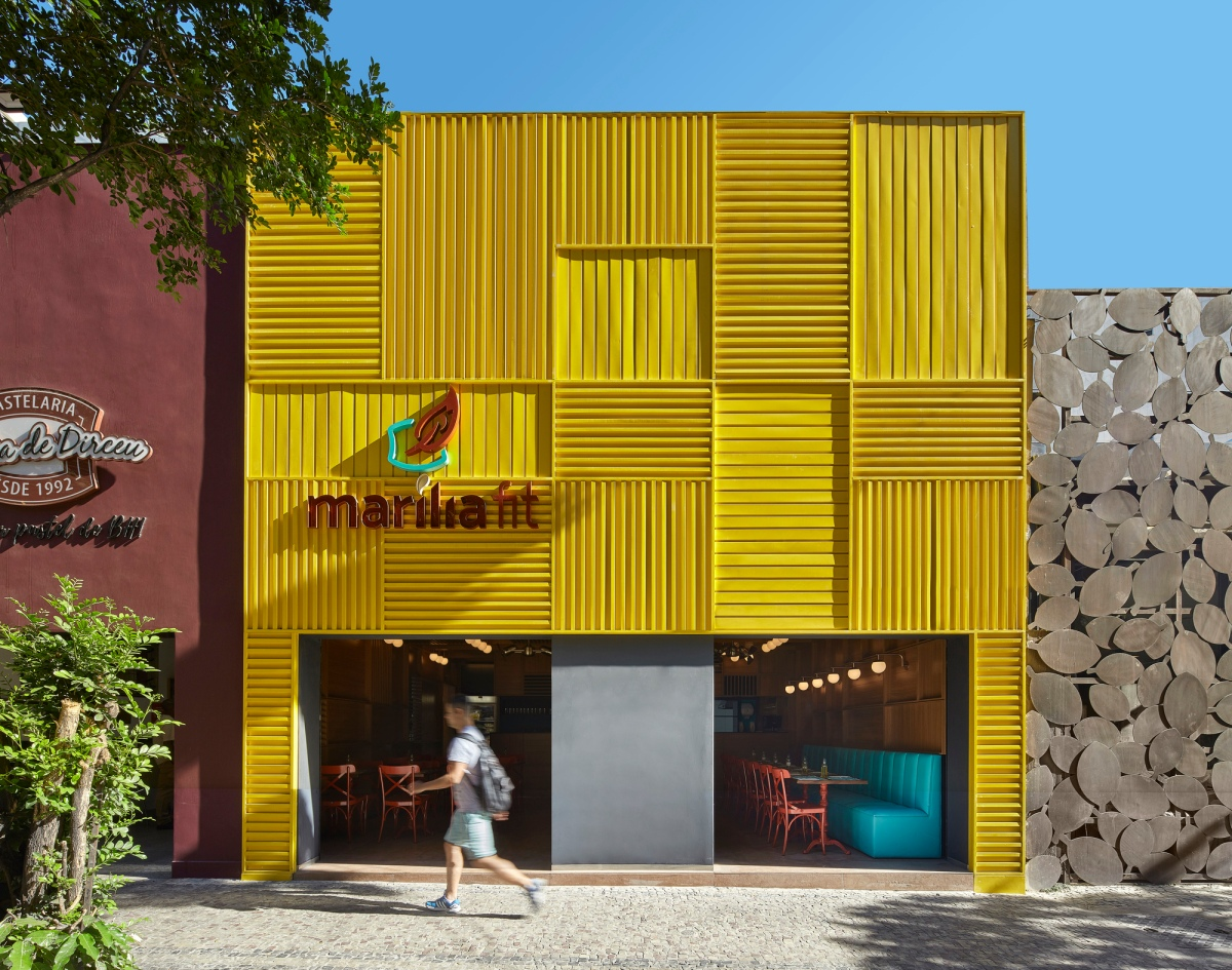 The Marília Fit Restaurant Shows That It's Hip To Be Square...
