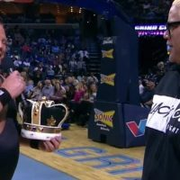Jerry Lawler & Rikishi Dance, then Beat-up Scott Steiner & Buff Bagwell at Grizzlies Game