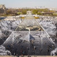 How Do You Celebrate the Louvre Pyramid's 30th Birthday? OPTICAL ILLUSIONS!!!!